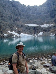 me at Iceberg Lake, Glacier National Park,