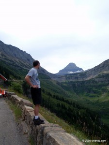 Going to the Sun Road looking towards Logan Pass